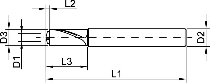 Zeichnung Desert-Cut Stufenbohrer